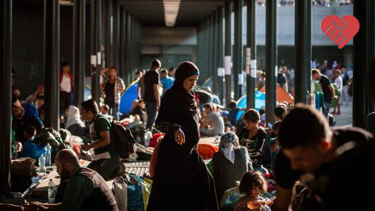 Utečenci na železničnej stanici Keleti Pálya Udvar v Budapešti. Foto: Tomáš Benedikovič, Denník N