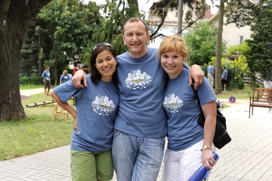 Three people without whom Our City wouldn't be Our City: Lenka Surotchak, Pavel Hrica and Monika Smo