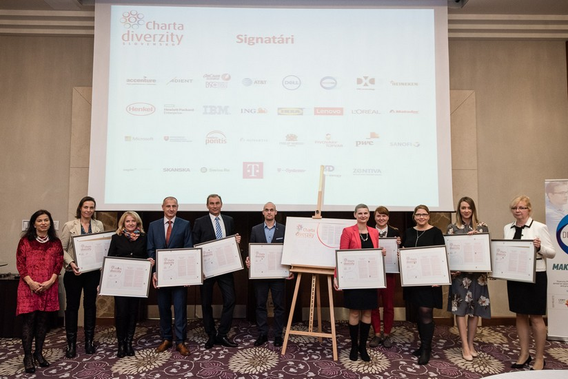 The new signatories signed the Charter of Diversity at the Sheraton Hotel in Bratislava on the 30th