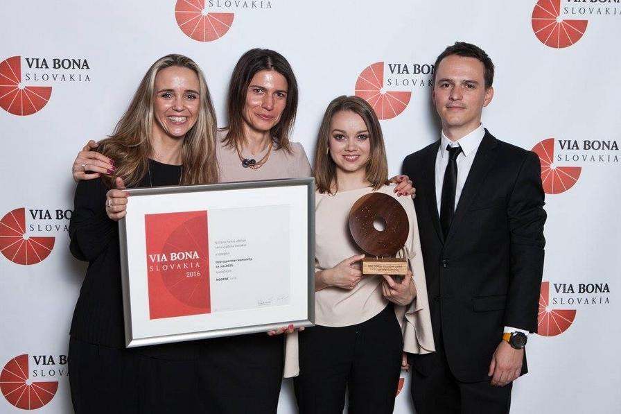The Nosene team – winners of the Good Partner for the Community award